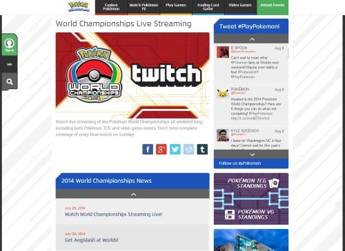 Worlds webpage